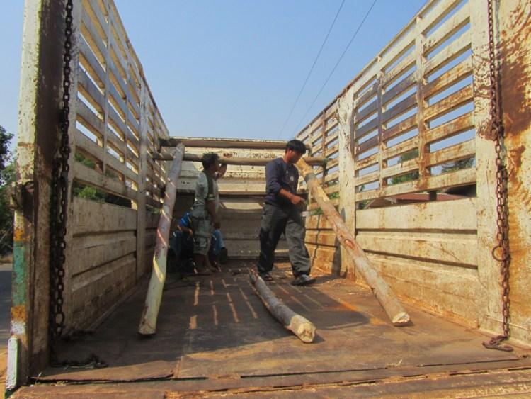 Preparing the elephant rescue truck