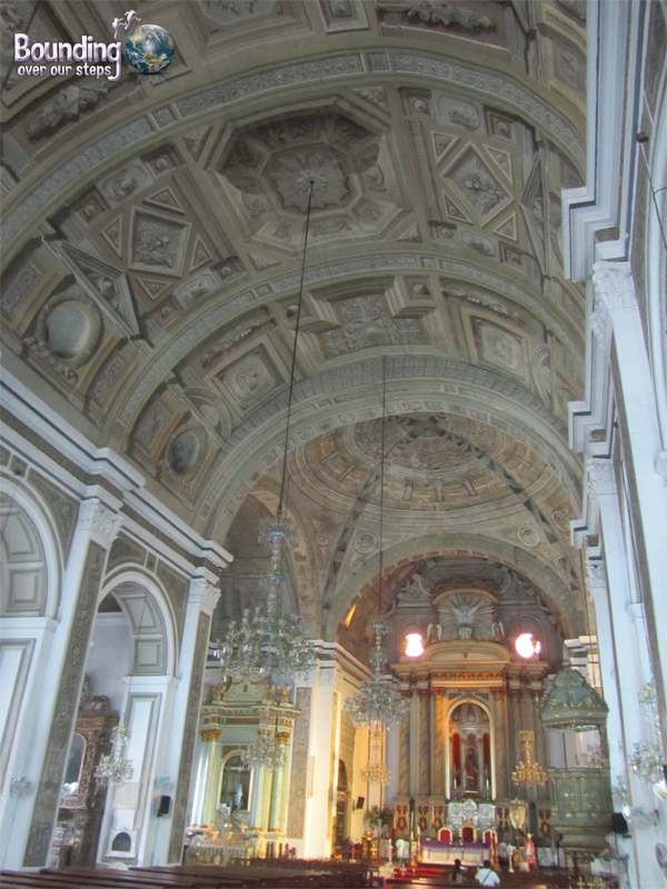 View of 3-D painted ceiling fresco of San Agustin Church in Intramuros Manila