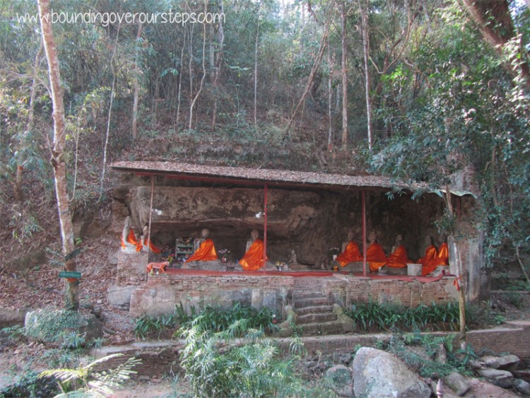 Beautiful temple in the jungle on the hike to Wat Phra Doi Suthep