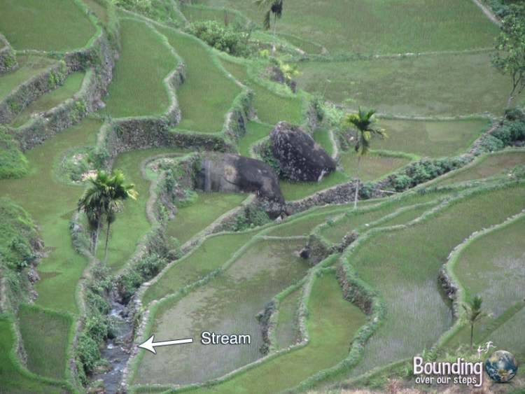 The pig stream running through Batad among the Banaue Rice Terraces