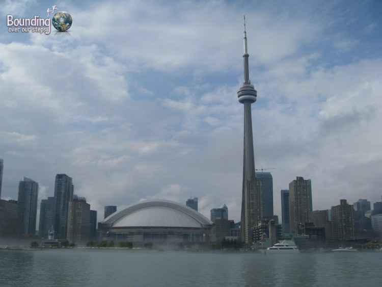 The Toronto skyline from a boat cruise