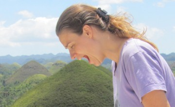 Ligeia feasting on the Chocolate Hills in Bohol, Philippines
