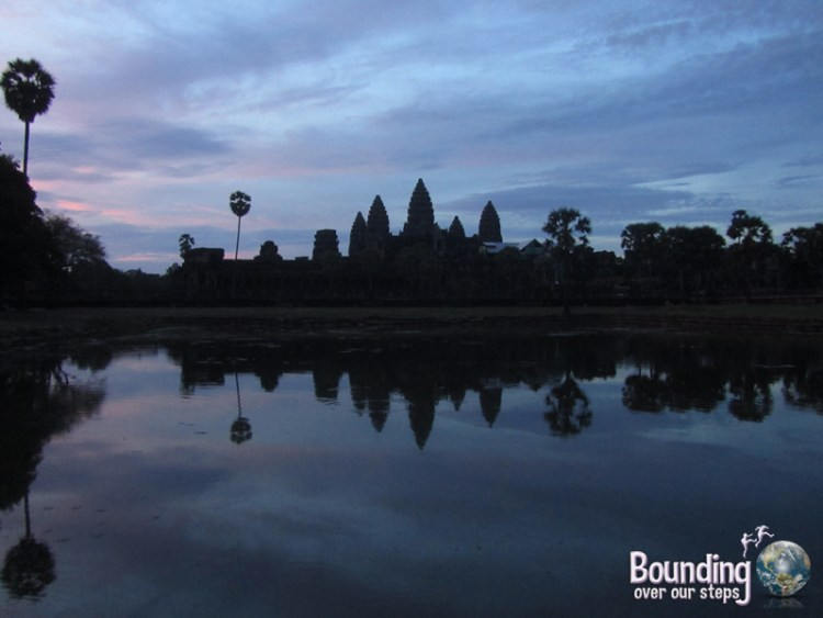 Sunrise over the pool at Angkor Wat, Cambodia