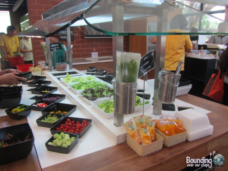 Delicious salad bar in the Royal Project store at Chiang Mai University