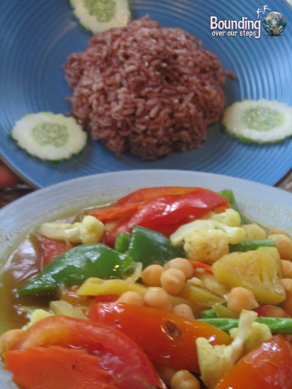 Pineapple Chickpea Curry at the Peace Cafe Vegetarian Restaurant in Siem Reap, Cambodia