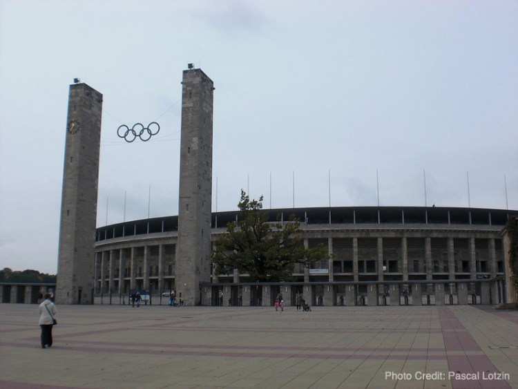 "Olympic Stadium in Berlin used during the 1936 ""Nazi Olympics"""
