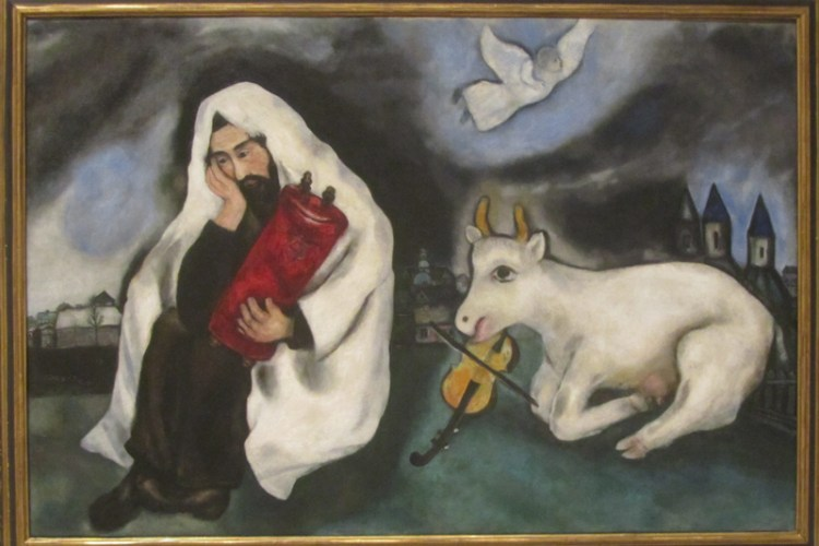 """Chagall painting entitled """"Solitude"""""""