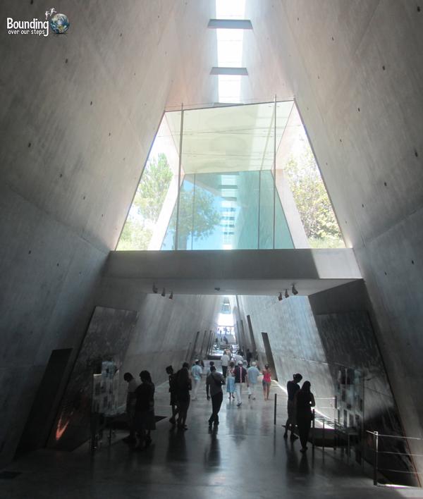 Inside Yad Vashem Holocaust Memorial in Jerusalem