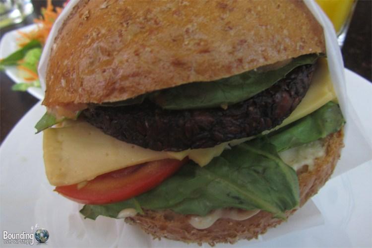 The restaurant's namesake - the Buddha Burger