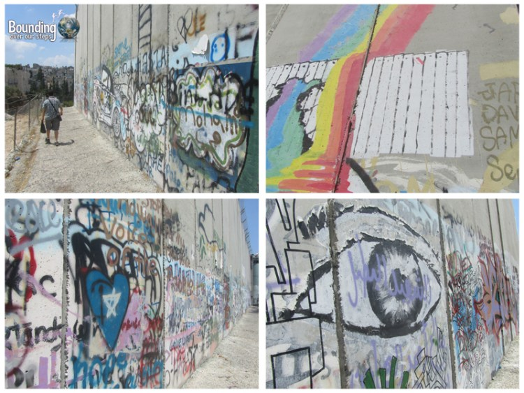 Graffiti art on the West Bank Barrier, the wall separating Jerusalem and Bethlehem