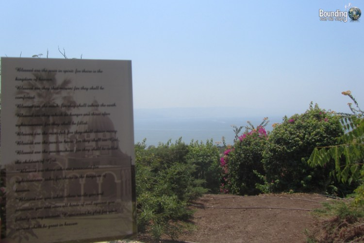 Reading the Beatitudes at the Sea of Galilee