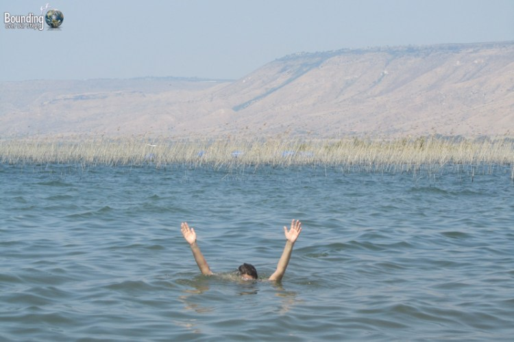 Ligeia walking on water at the Sea of Galilee