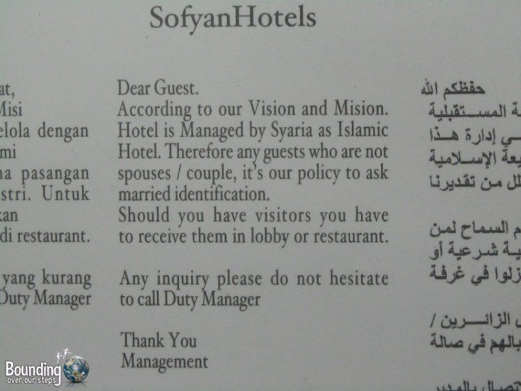 Shariah Law Hotel - Rules