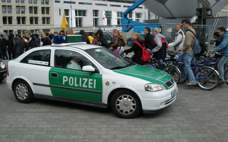 German Holding Cell - Police Car