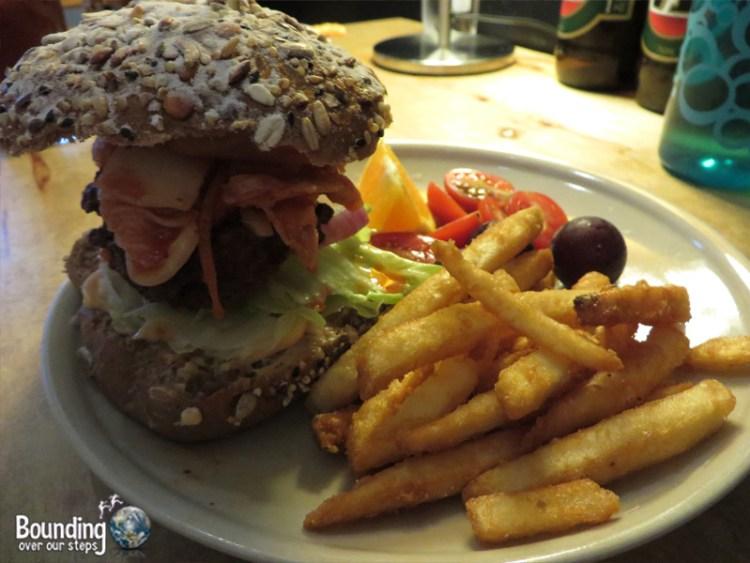 About Animals Vegan Restaurant - Kimchi Burger