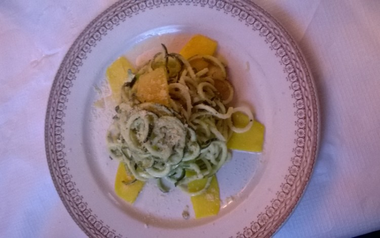 Vegan in England - Raw Zucchini Noodles
