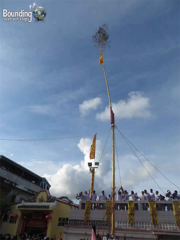 Phuket Vegetarian Festival - Pole Raising