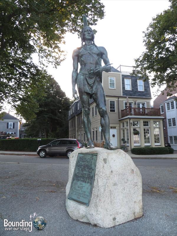 Pilgrim Rock - Chief Statue