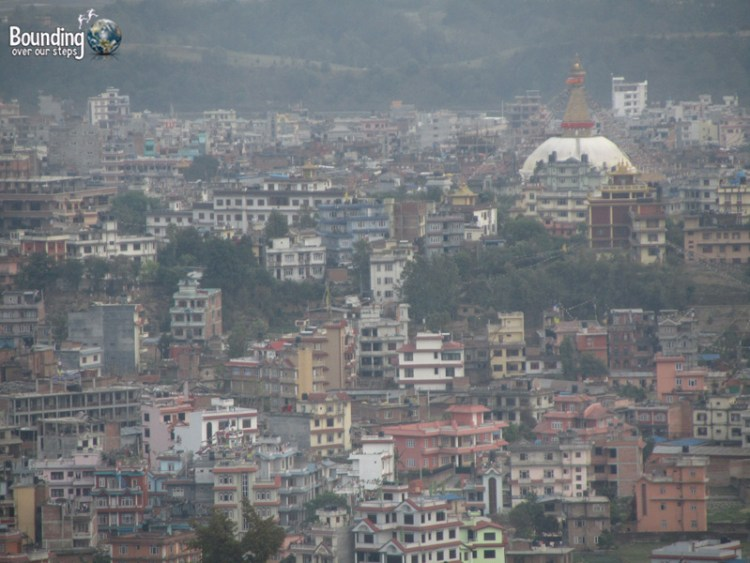 View of the city of Kathmandu from the Koplan Monestary