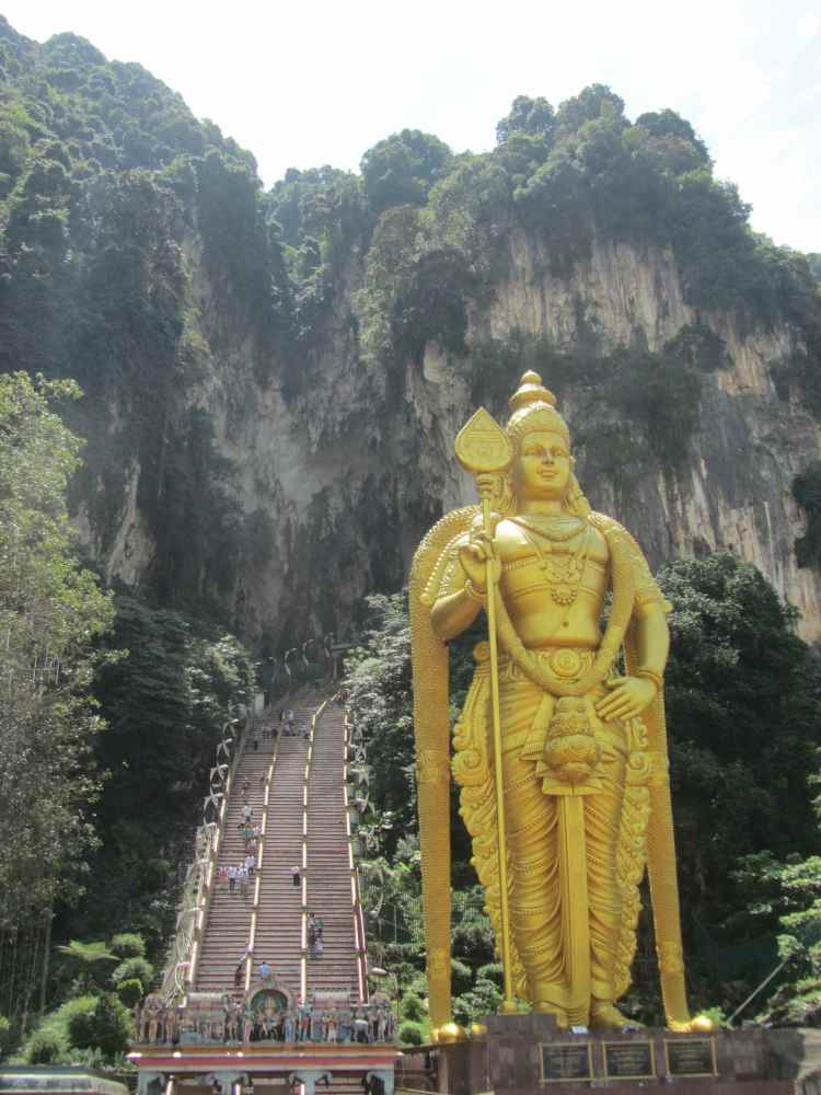 Batu Caves with Statue KL