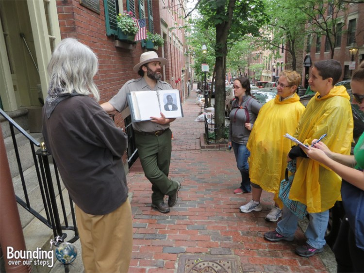 Learning about the history of Boston with our guide on the Black Heritage Trail