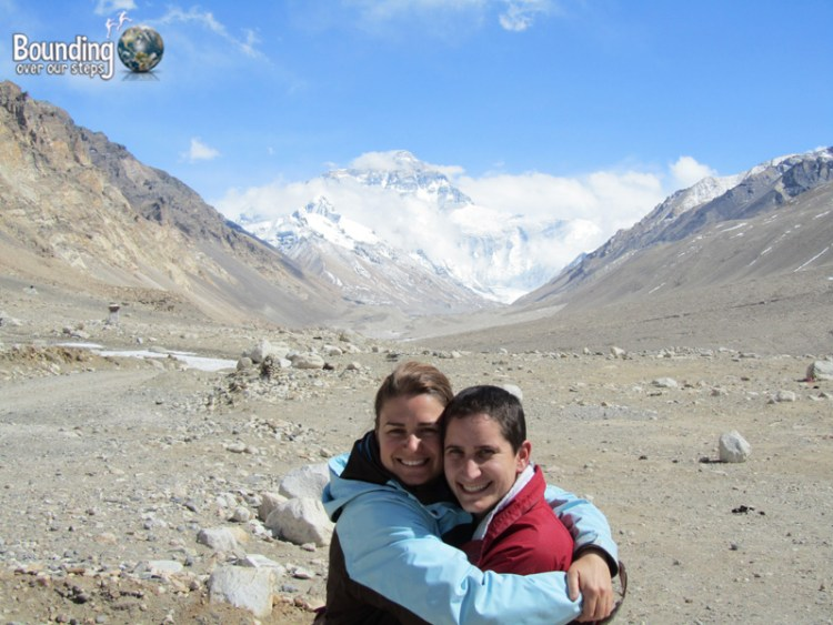 At Mount Everest Base Camp in Tibet