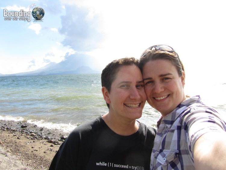 At Lake Panajachel in Guatemala