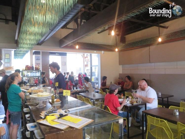 The Lunch Room - Vegan Restaurant - Dining Area