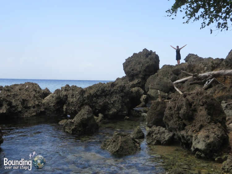 Winnifred Beach - Climbing on the Rocks