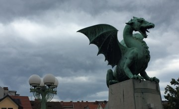 Vegan in Slovenia - Ljubljana Dragon Bridge