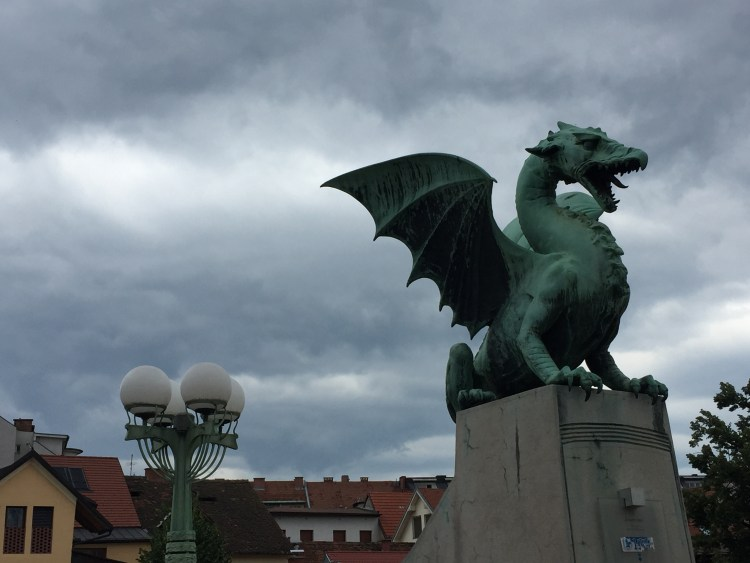 Vegan in Slovenia - Ljubljana Dragon Bridge