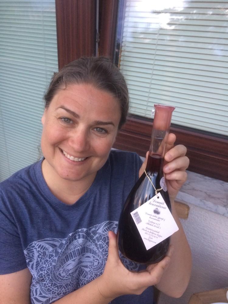 Vegan in Slovenia - Ligeia with Blueberry Liqueur