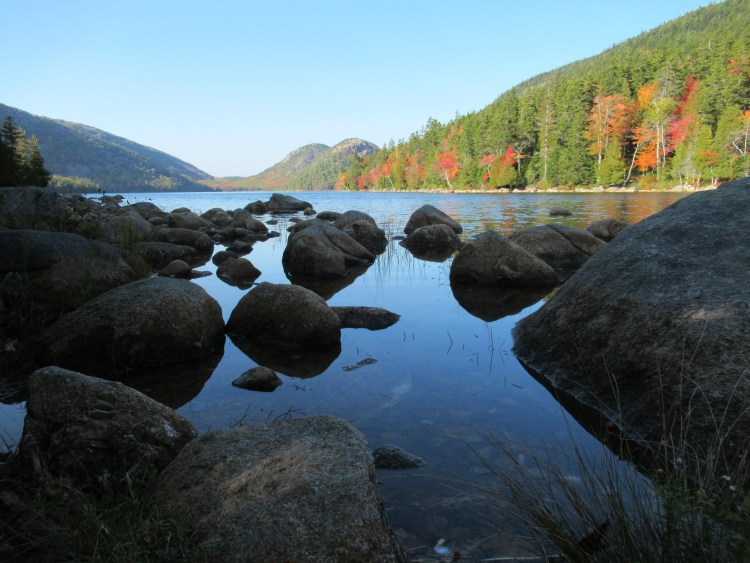 Jordan Pond Acadia National Park - Reflections of Jordan Pond