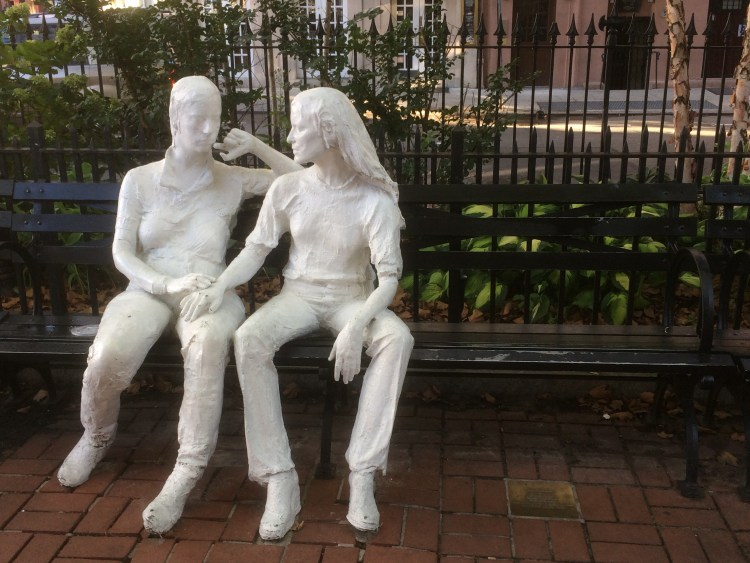 Vegan Weekend in NYC - Sculptures at the Stonewall Memorial