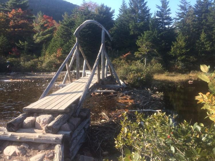 Jordan Pond Acadia National Park - Wooden Bridge at Jordan Pond