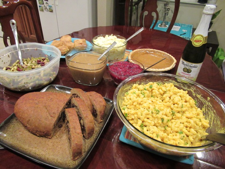 Vegan Thanksgiving Recipes - Full Table