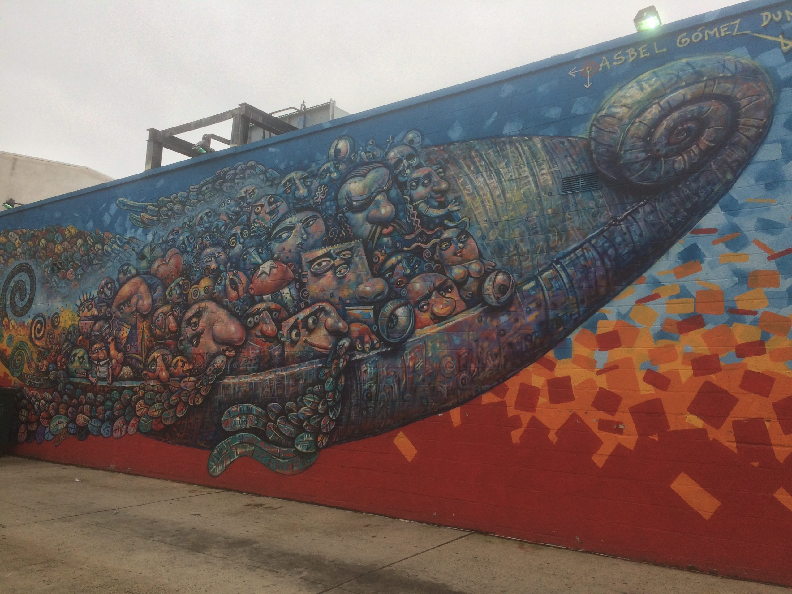 Colorful graffiti mural in Jersey City