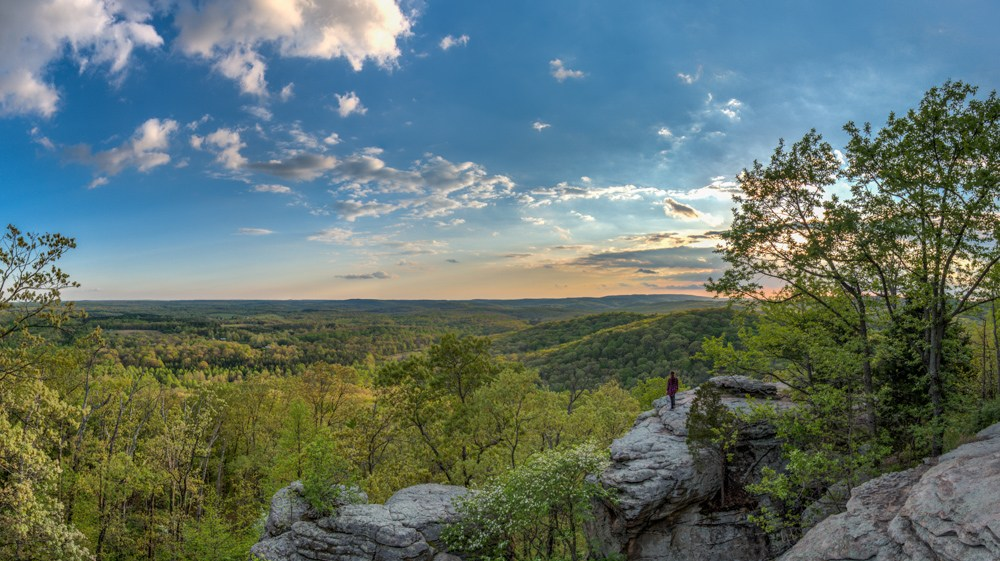 Shawnee National Forest Illinois Garden of the Gods Greenery Blue Skies Midwest Cliffs