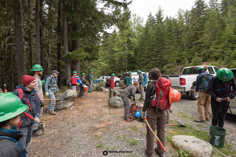 WTA work party at White River Mt. Rainier National Park