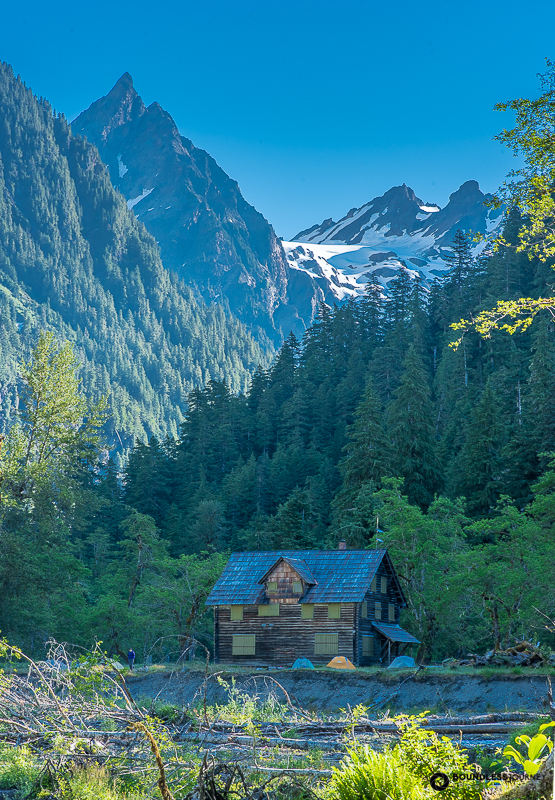 The chalet in the Enchanted Valley of Olympic National Park, Washington.