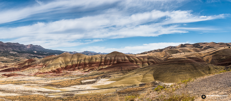 John Day Fossil Bed Painted Hills National Monument in Oregon. Boundless-Journey.