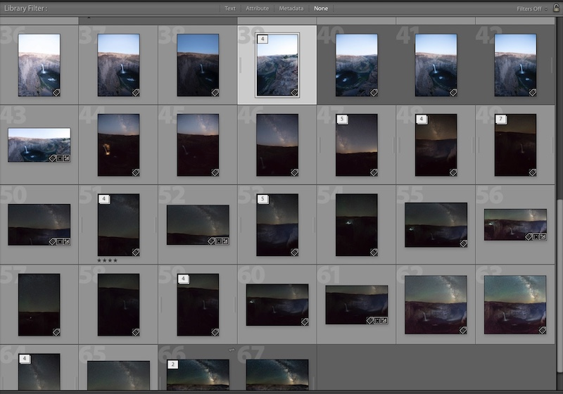 Lightroom how to stack images.