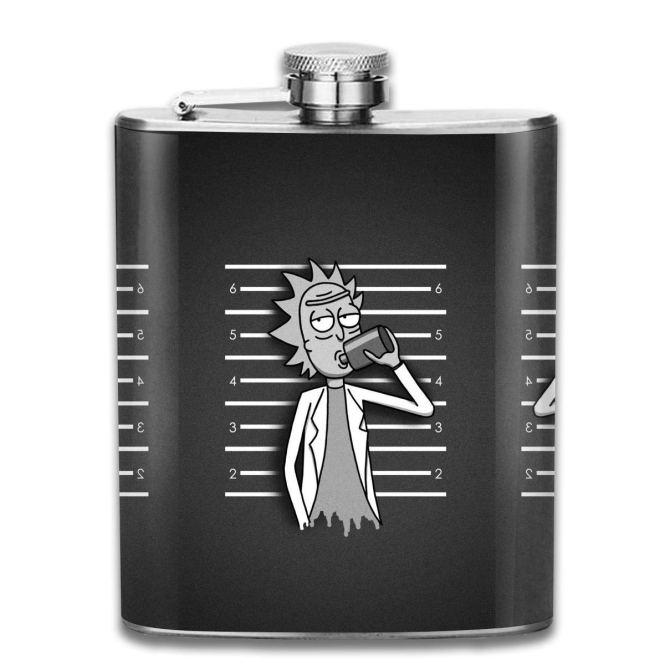 Rick and Morty Flask