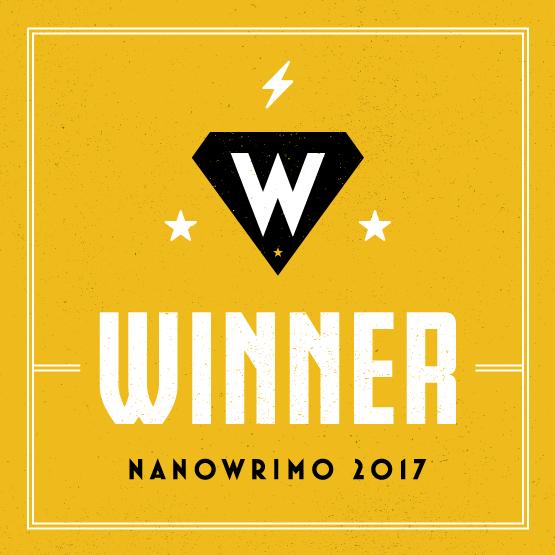 NaNoWriMo 2017 winner badge