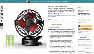 Yilear Mini Ventilatore da Tavolo Silenzioso
