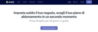 Come avere Shopify GRATIS per 14 giorni