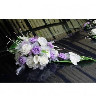 Composition Florale Pour Voiture De Mariage Avec Des