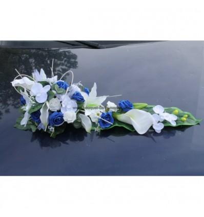 Splendide Bouquet De Voiture De Mariage Avec Roses Bleu Et