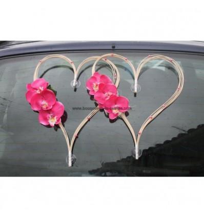Dcoration Voiture Mariage En Cur De Rotin Avec Orchides