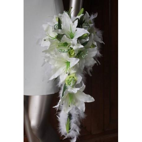 Bouquet De Marie Blanc Tombant Thme Anis Plumes